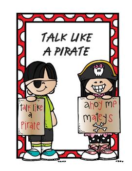 Talk Like a Pirate Coloring Sheet
