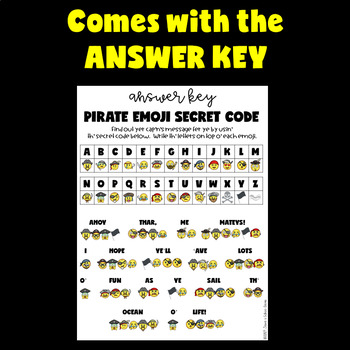 Talk Like a Pirate Day Activities (Talk Like a Pirate Emoji Activities)