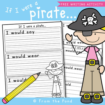 talk like a pirate day writing page by from the pond tpt talk like a pirate day writing page