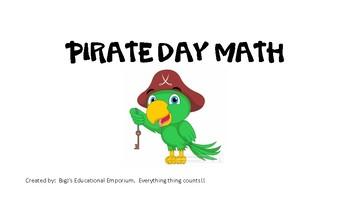Talk Like a Pirate Day Math