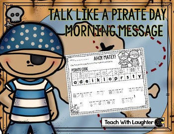 Talk Like a Pirate Day Morning Message