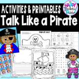 Talk Like a Pirate Day Pack *Activities Printables Anchor Chart Directed Drawing