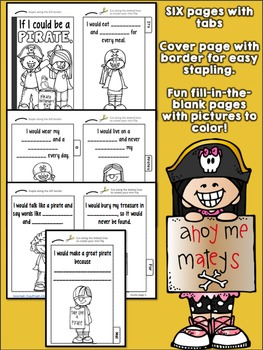 If I Could Be a Pirate Printable Fill-in-the-Blank Tab Activity Booklet