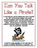 Talk Like a Pirate --> Dialogue, quotation marks, writing,