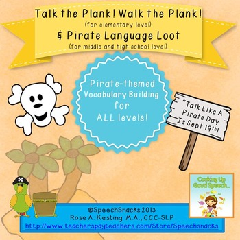 """""""Talk Like a Pirate"""" Language Games-- {for elementary, middle and high school!}"""