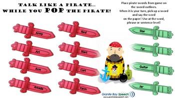 Talk Like a Pirate Vocalic R