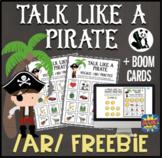 Talk Like a Pirate /ar/ FREEBIE: Speech Therapy/Articulation + BOOM Cards