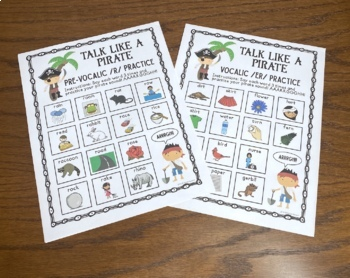 Talk Like a Pirate /r/ Practice:  Speech Therapy/Articulation