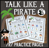 Talk Like a Pirate /r/ Practice:  Speech Therapy Articulation