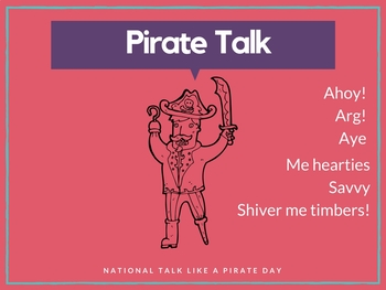 Talk Like a Pirate Image Pack Green Screen Makerspace Background Images