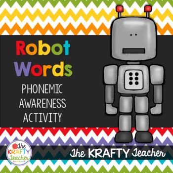 Segmenting Cards, PreK, Kdg, First, Talk Like a Robot  Phonics, Intervention