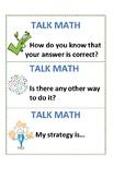 Talk Math cards