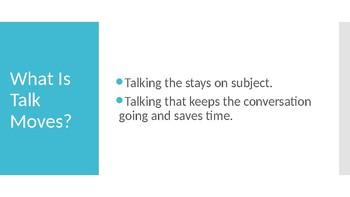Talk Moves- Accountable Talk