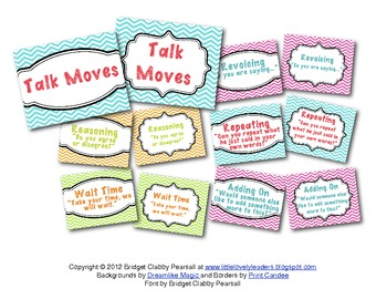 """""""Talk Moves"""" Meaningful Discussions Posters"""