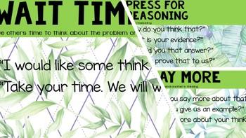 Talk Moves Poster Set- Tropical Fern Leaf Theme