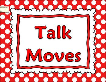 Talk Moves Posters For Discussion