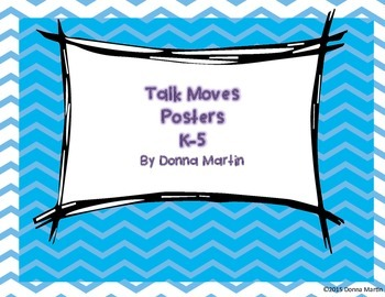 Talk Moves Posters in Chevron Theme
