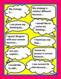 Talk Moves Sentence Starter Printable Poster