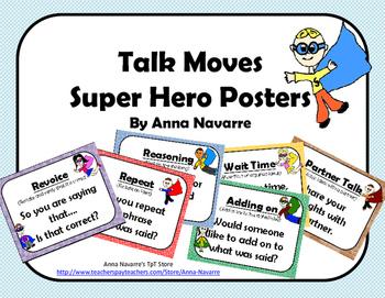 Talk Moves Super Hero Posters