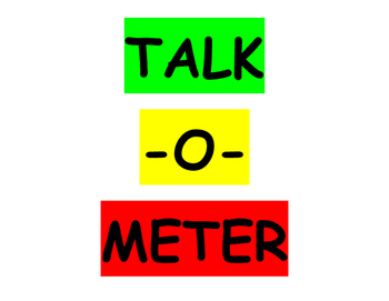 Talk-O-Meter Sign/Poster (Classroom Noise Control)