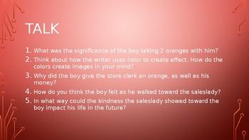 Talk Read Talk Write - Gary Soto: Oranges