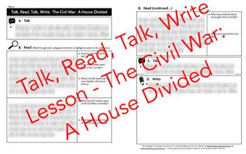Talk, Read, Talk, Write Lesson: The Civil War - A House Divided