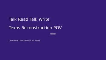Talk Read Talk Write:  Texas Reconstruction