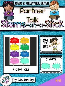 Partner Talk or Club Talking Stems on a Stick