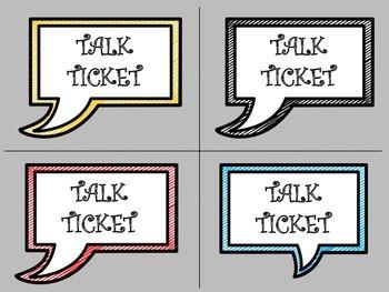 Talk Tickets (FREEBIE)