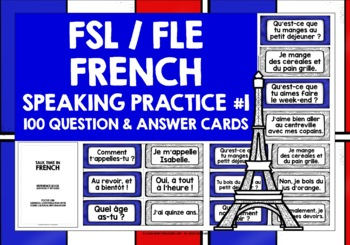FRENCH CONVERSATION CARDS #1