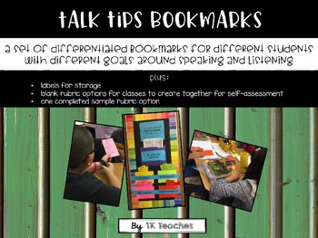Talk Tips Bookmarks