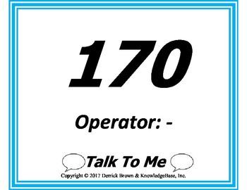 Talk To Me (Arithmetic Edition) - Teach the Language of Math!