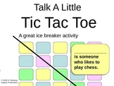 Talk a Little, Tic Tac Toe Ice Breaker for Teens