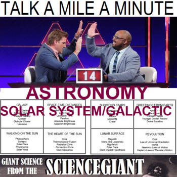 Talk a Mile A Minute about Astronomy (Solar System and Galactic)