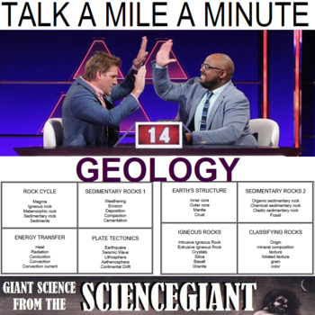 Talk a Mile a Minute about Earth's Interior, the Rock Cycle, and Geology