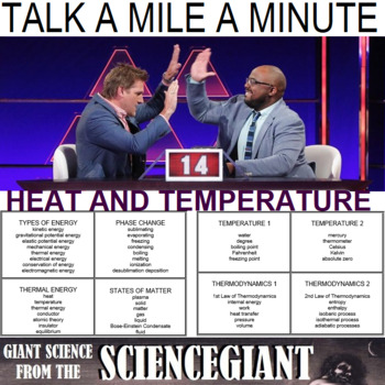 Talk a Mile a Minute about States of Matter, Phase Change, Heat and Temperature