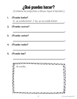 Talk about Music in Spanish & the verb PODER! ¿Puedes tocar? (5 fun worksheets!)