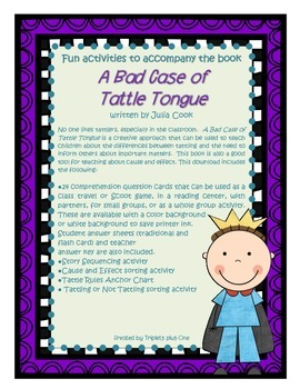 Talk about Tattling with  A Bad Case of Tattle Tongue