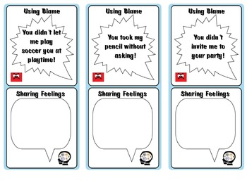 Talk about your Feelings - Lesson plan and Task Cards