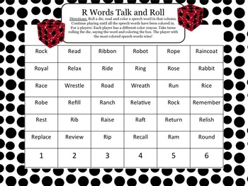Talk and Roll Articulation: R, R Blends, CH, SH, TH, S and S Blends