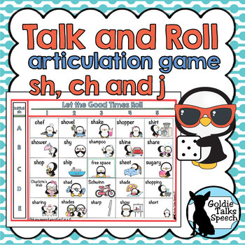 Talk and Roll Sh, Ch, and J   Speech Therapy   Articulation Game