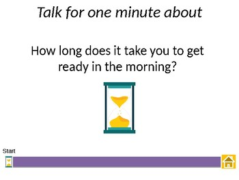 Talk for one minute self timing game - Getting to know you conversation starters