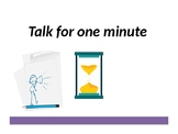 Talk for one minute self timing game - Getting to know you
