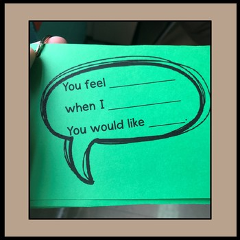 Talk it Out/I-Message Reflective Listening Cards