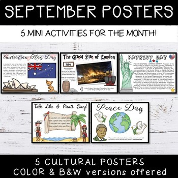 September Special Events - Informational Posters Freebie