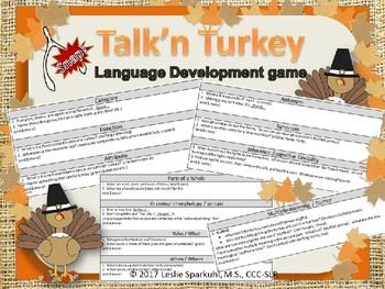 Talk'n Turkey Thanksgiving Language Development Game!