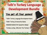 Talk'n Turkey, Thanksgiving Language Development Bundle!