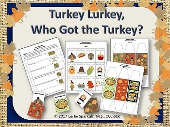 Talk'n Turkey, Thanksgiving Language Development Bundle!
