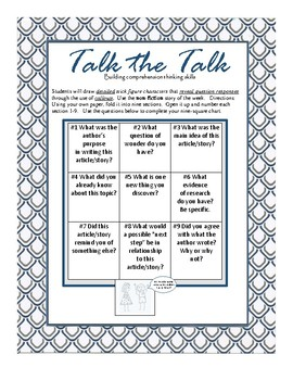 Comprehension:Talk the Talk