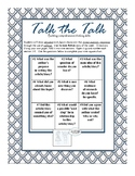Comprehension:Talk the Talk